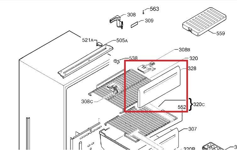 aeg privileg vorderwand gefrierschrank fach klappe 2244105108. Black Bedroom Furniture Sets. Home Design Ideas