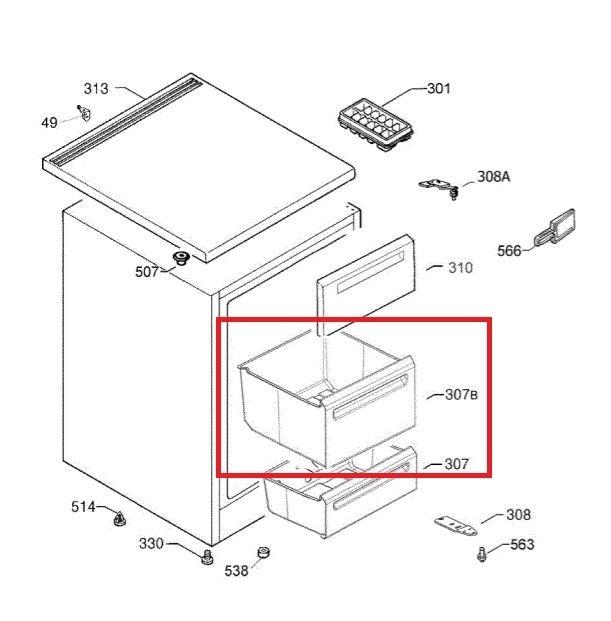 2064460054 mittlere schublade gro gefrierschrank aeg privileg. Black Bedroom Furniture Sets. Home Design Ideas