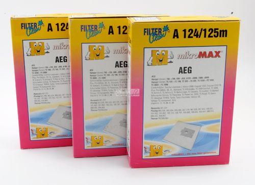 1 Filter Privileg 125m 4 Filter Clean Papier Staubsaugerbeutel A 124 AEG