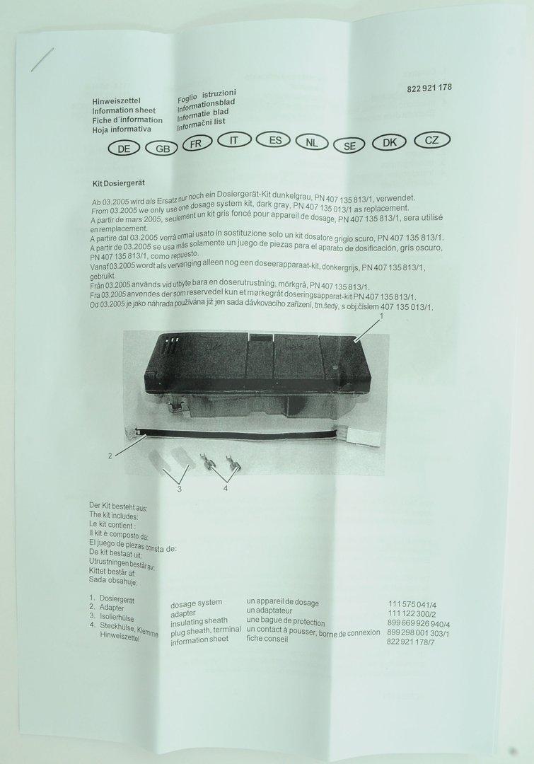 aeg dosiereinheit f r sp lmaschine beh lter sp lmittel klarsp ler. Black Bedroom Furniture Sets. Home Design Ideas